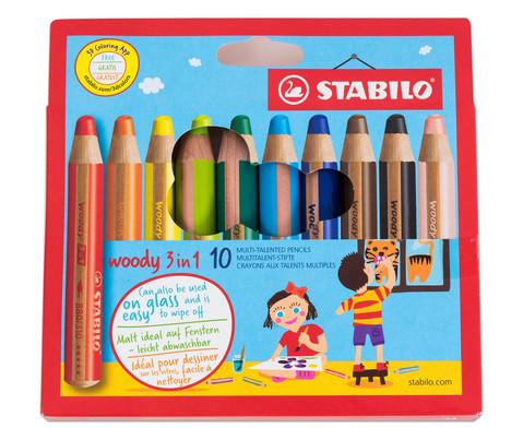 Stabilo Woody-Farbstifte 10 Farben-3