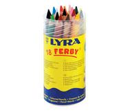 18 Stück Lyra Ferby, lackiert, in einer Dose mit Schraubdeckel