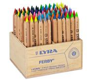96 Stück Lyra Ferby, naturbelassen im Holzaufsteller