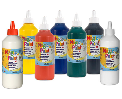Magic Paint Zauberfarbe 7 Flaschen mit 500 ml