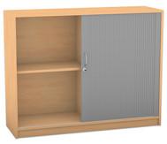 Flexeo Rollladenschrank mit 3 Fächern und 1 Tür
