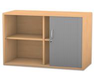 Flexeo Rollladen-Aufsatzschrank mit 4 Fächern, HxB: 60,6 x 94,4 cm