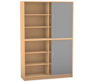 Flexeo Rollladen-Schrank, 8 Fachböden, 2 Türen mit Mittelwand, HxB: 190 x 126,4 cm