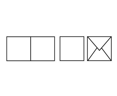Doppelkarten quadratisch 5er Set-2