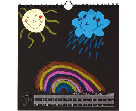 Blanko-Kalender Papier schwarz Druck silber