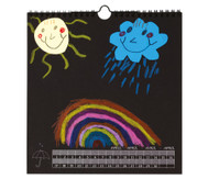 Kalender zum Selbstgestalten, schwarz