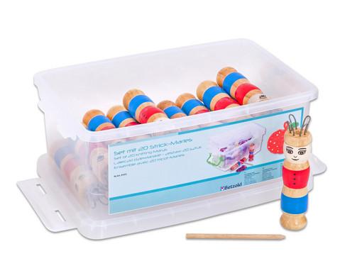 Set mit 20 Strick-Maries und 1 transparente Box-1