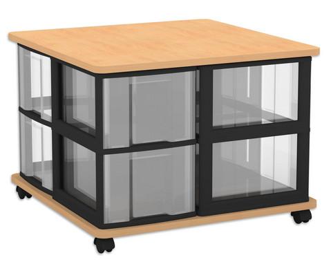 Flexeo Fahrbares Containersystem mit Ablage und 8 grossen Boxen