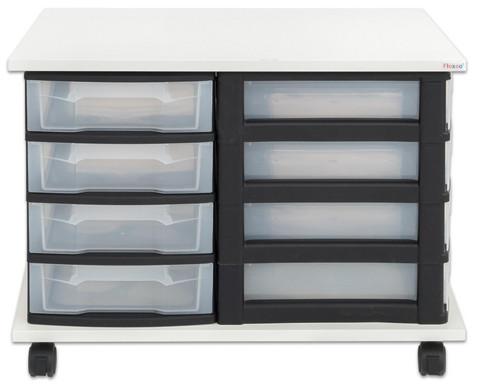 Fahrbares Flexeo Containersystem mit Ablage und 16 kleinen Boxen-2