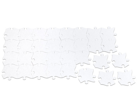 Riesen-Puzzleteile 32 Stueck blanko-5