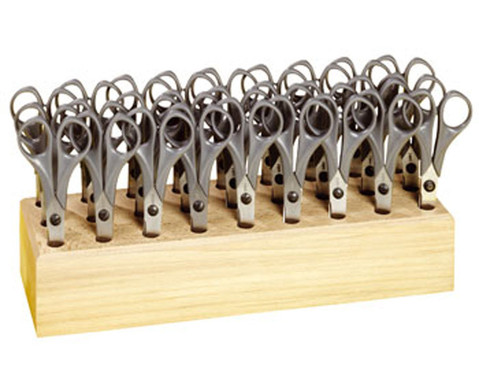 Mit 27 runden Bastelscheren im Scherenblock