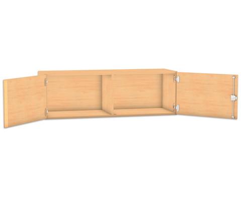Flexeo Aufsatzschrank HxB 414 x 1264 cm mit Mittelwand