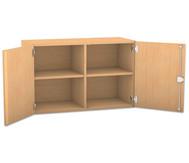 Flexeo Aufsatzschrank mit 4 Fächern und 2 Türen, HxB: 60,6 x 94,4 cm