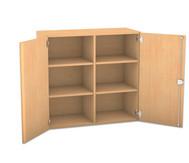 Flexeo Aufsatzschrank mit 6 Fächern und 2 Türen, HxB: 90,9 x 94,4 cm