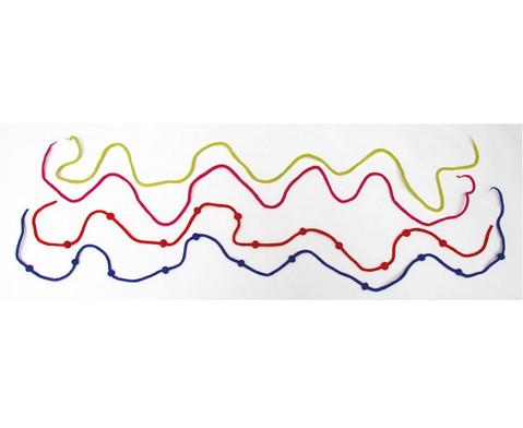 Filzkordel mit Kugeln in 6 Farben
