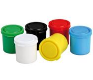 Jovi-Decor, 6x je 50 ml, weiß, gelb, rot, blau, grün, schwarz