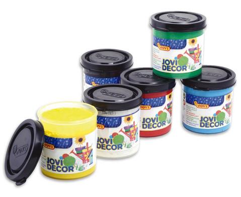 Jovi-Decor 6x je 50 ml weiss gelb rot blau gruen schwarz-3