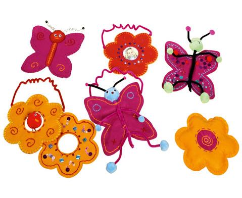 Filz-Blumen in tollen Farben-12