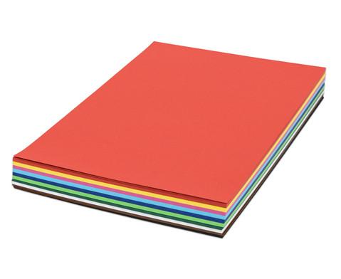 Tonzeichenkarton 125 Bogen DIN A2 160 g-m in 10 abgestimmten Farbtoenen