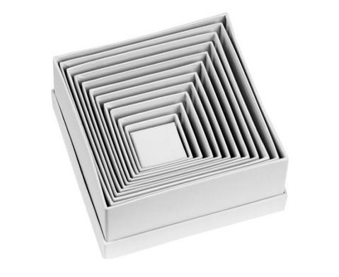 Geschenkboxen eckig 12 Stueck blanko weiss-2