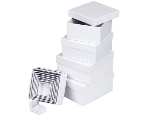 Geschenkboxen eckig 12 Stueck blanko weiss-1
