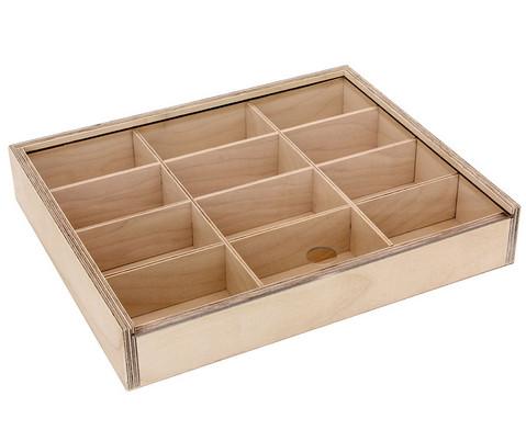 Holz-Sortierbox mit 12 Innenfaechern-1