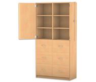 Flexeo Hochschrank mit 6 Hängerregister-Schubladen und 6 Fächern