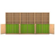 Flexeo Systemschrankwand Antares, 18 Fächer 96 kleine Boxen, HxBxT: 190 x 379,2 x 50 cm