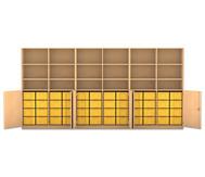 Flexeo Systemschrankwand Antares, 18 Fächer 48 große Boxen, HxBxT: 190 x 379,2 x 50 cm