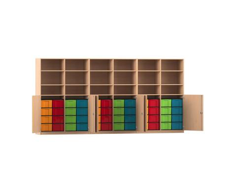 Flexeo Systemschrankwand Antares mit 48 grossen Boxen
