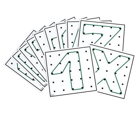 Arbeitskarten fuer transp Geometrie-Board UEbungen mit 1 Gummiband