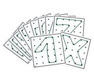 Arbeitskarten für transp. Geometrie-Board Übungen mit 1 Gummiband