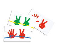 Vorlagekarten zu Fädel-Hände, 15 Stück