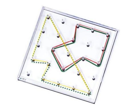 Arbeitskarten transp Geometrie-Board mit 2 und mehr Gummibaendern-2
