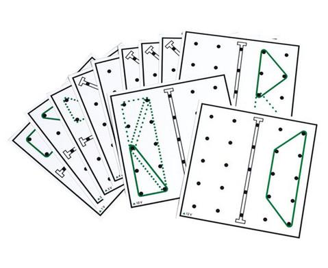 Arbeitskarten transp Geometrie-Board Spiegelsymmetrie