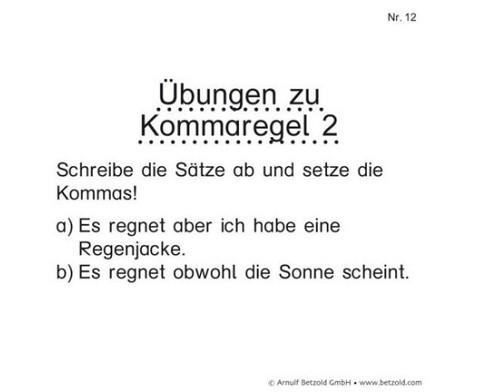Zeichensetzung Kommaregeln-2