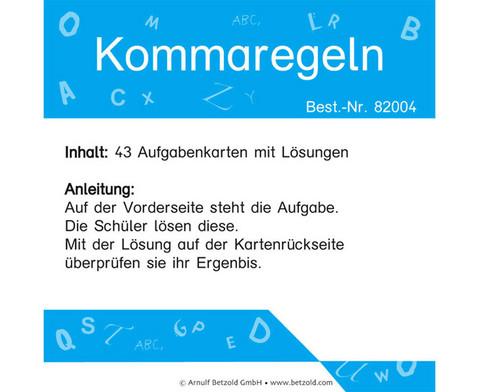 Zeichensetzung Kommaregeln-1