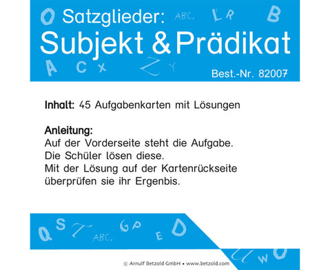Satzglieder Subjekt und Praedikat-1