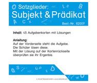 Satzglieder: Subjekt und Prädikat