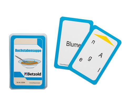 Betzold Buchstabensuppe - Kartensatz fuer den Magischen Zylinder