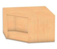 Flexeo Eckregal, Aufsatzelement, ohne Fachboden, Höhe 41,4 cm