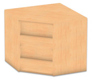 Flexeo Eckregal, Aufsatzelement, 1 Fachboden, Höhe 60,6 cm