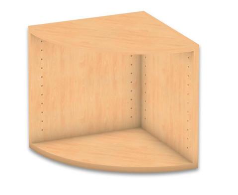 Flexeo Abschlussregal rund Hoehe 414 cm-1