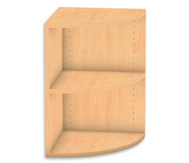 Flexeo Abschlussregal rund, 1 Fachboden, Höhe 60,6 cm