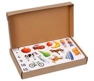 Zählen und Rechnen mit Bildern im Karton