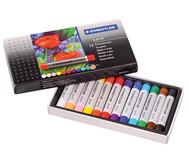 Ölpastellkreide, Schachtel mit 12 Farben