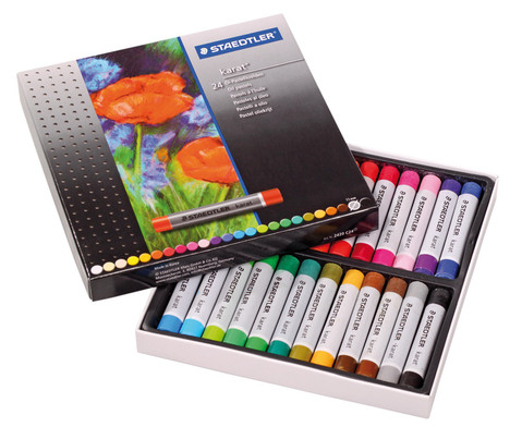 OElpastellkreide Schachtel mit 24 Farben
