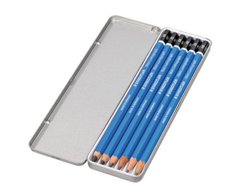 6 Bleistifte im Metalletui-2