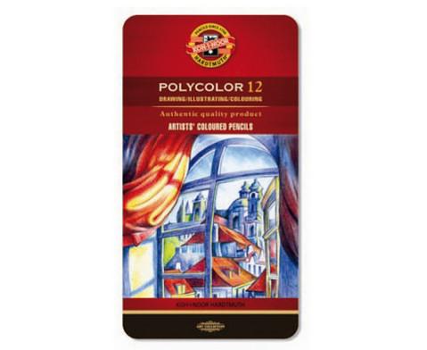 Polycolor Kuenstlerfarbstifte 12 Farben-1