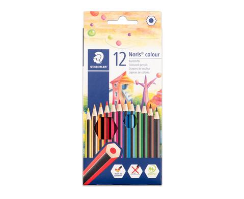 Farbstifte Noris Club Etui mit 12 Farben